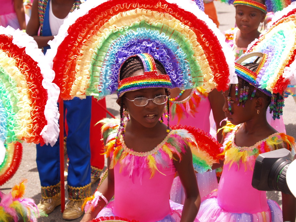 Fun Lovers junior troupe marches to the 'End of the Rainbow.'