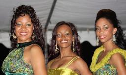 2010 Carnival Queen contestants, from left, Razzilee O'quendo, Shawntay Henry, and Britanny Robinson