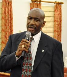 Police Commissioner Henry White Jr. at his February 2012 confirmation hearing.