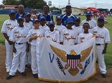 The V.I. 9-10 Little League team.
