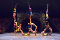 The African acrobats of Cirque Zuma Zuma appear Feb. 22 and 23.