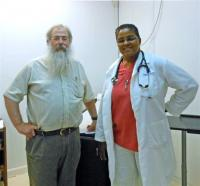 Doctors George Rosenberg and Robin Ellett at Health Care for the Homeless.