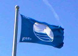 The blue flag means our beaches and marina facilities are safe and clean.