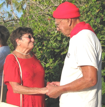 Barbara and John Achzet, married 62 years, renew their vows at Trunk Bay ceremony.