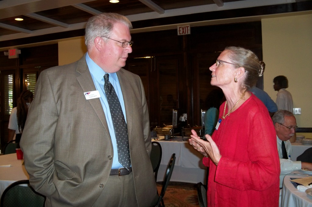 Lloyd Lamm of the Pennsylvania Early Learning Investment Commission (left) and Community Foundation President Dee Baecher-Brown.