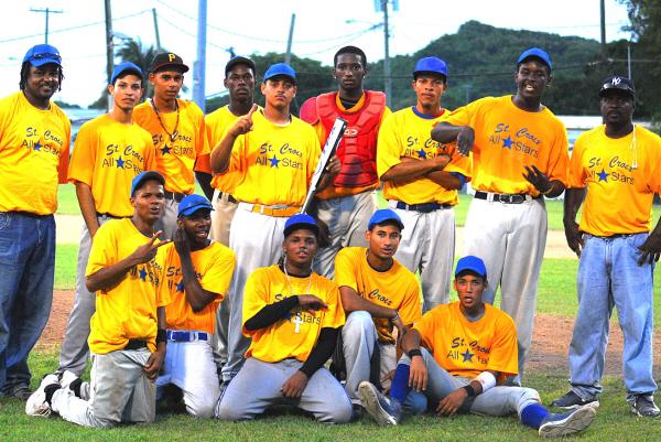 V.I. champs the St. Croix Elmo Plaskett 16-18 All-Stars. (click to enlarge)
