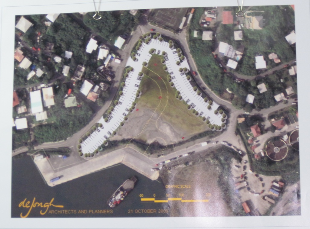 A map of the proposed parking area at Enighed Pond.