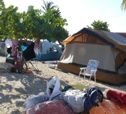 Tents at Cramer's Park. (Bill Kossler photo)