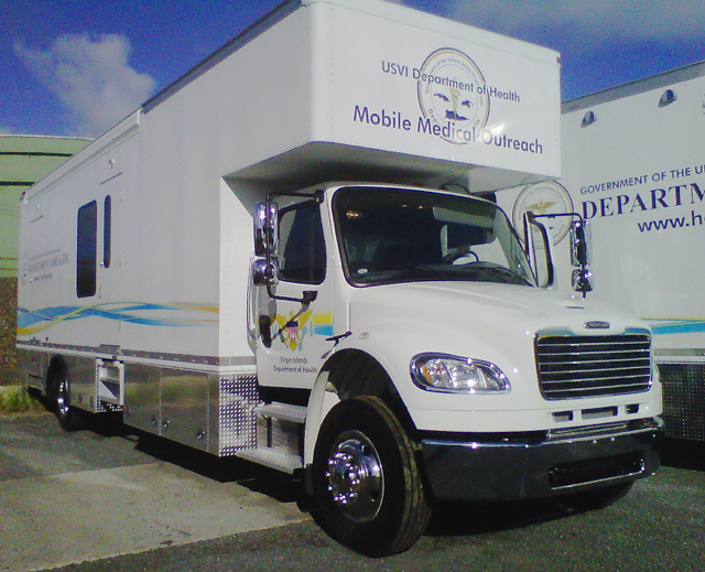 One of the territory's mobile clinics. (Photo provided by V.I. Department of Health)