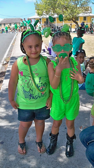 Migdalia Melendez,4, and Asali Cruz, 3, are dressed for the celebration.