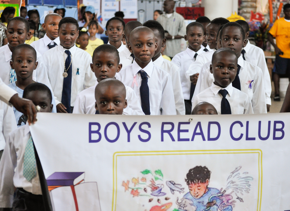 Ulla F. Muller Elementary School's Boys Read Club took part Saturday in the Education Expo.
