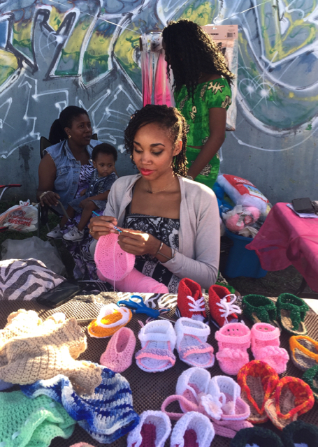 Ariel Millin sold her hand-crafted crochet wares during the fair.