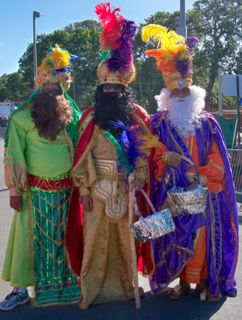 The Three Kings take part in the 2014 Crucian Christmas Festival parade.