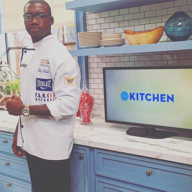 Julius Jackson on the set of 'The Kitchen.' (Photo provided by the Food Network)