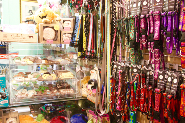 Dog leashes, collars and treats are among the many supplies at Style A Dog.