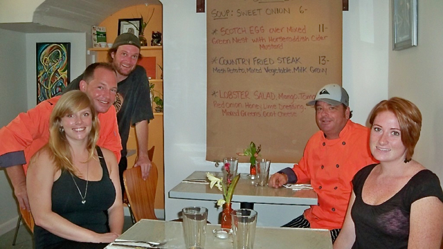 From left, Erica Wasik, Todd Manley, Jeremy Wright, Brant Pell, and Carley Thompson, the crew at 40 Strand Eatery.