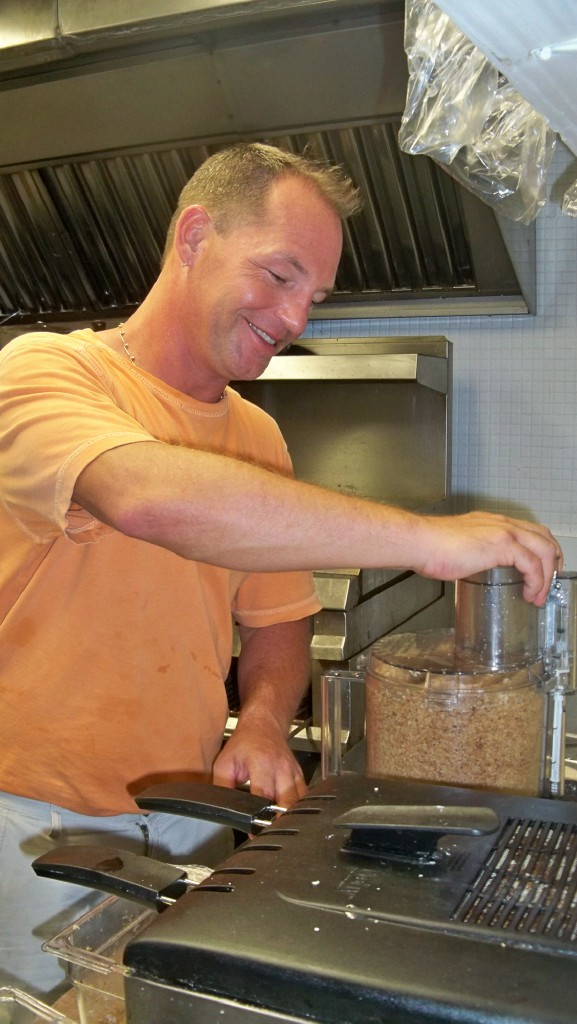 Chef Todd Manley works in the kitchen at 40 Strand Eatery.