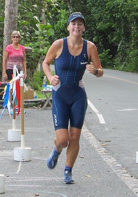 First-place women's aquathoner Natasha Ruecheinski.