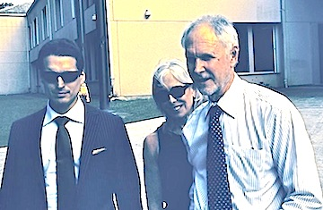 Attorneys Danny Cevallos, Gordon Rhea and paralegal Catherine Rhea discuss the verdict outside V.I. Superior Court on St. Croix.