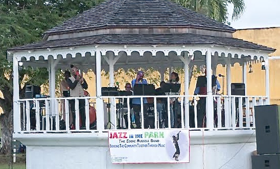 Musicians play in the gazebo. (Photo provided by Gayle Vanasse)