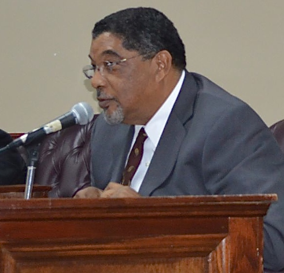 V.I. Economic Development Authority Executive Director Percival Clouden testifies at Friday's hearing.
