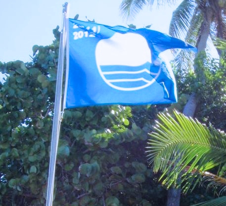 A Blue Flag flies over one of five V.I. beaches and two marinas that have earned the honor.