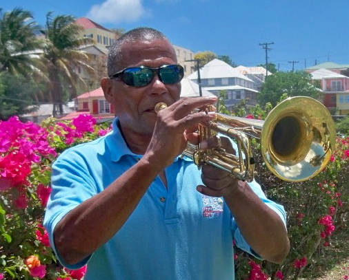 Trumpeter Eddie Russell, who organizes the Jazz in the Park concerts.