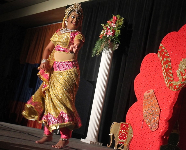 Anita Maharaj performs a traditional Indian dance.