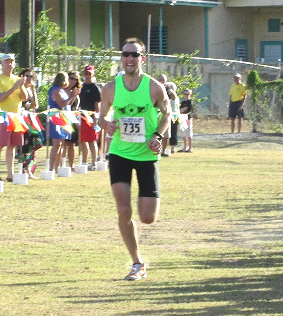 David Riddle finishes 8 Tuff Miles in first place in a course record time.