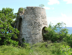 Colonial-era ruins at Estate Castle Nugent.