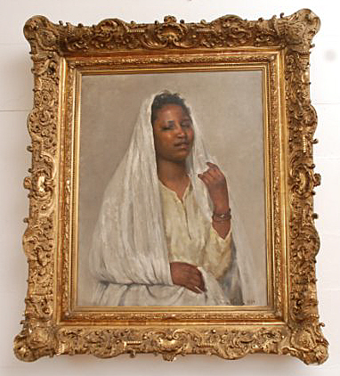 "Franz Xaver Kosler's ""African Beauty in White"" (1894)"