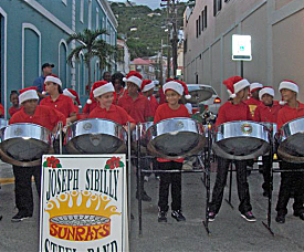 The Sibilly School Sun Rays steel pan band entertained in the early evening.