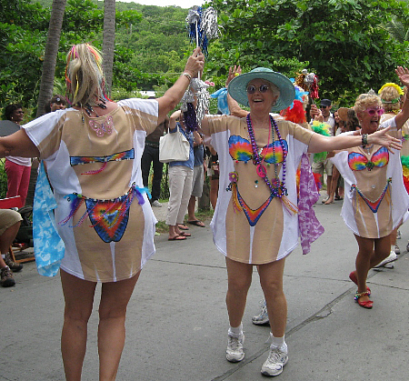 Jane Washburn (left) and Livy Hitchcock of the Middle Age Majorettes.