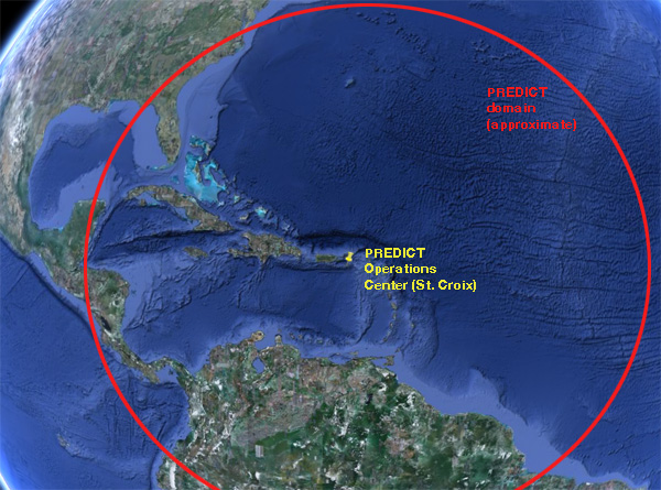 The PREDICT project will cover an immense region (Image courtesy of the University Corporation for Atmospheric Research).