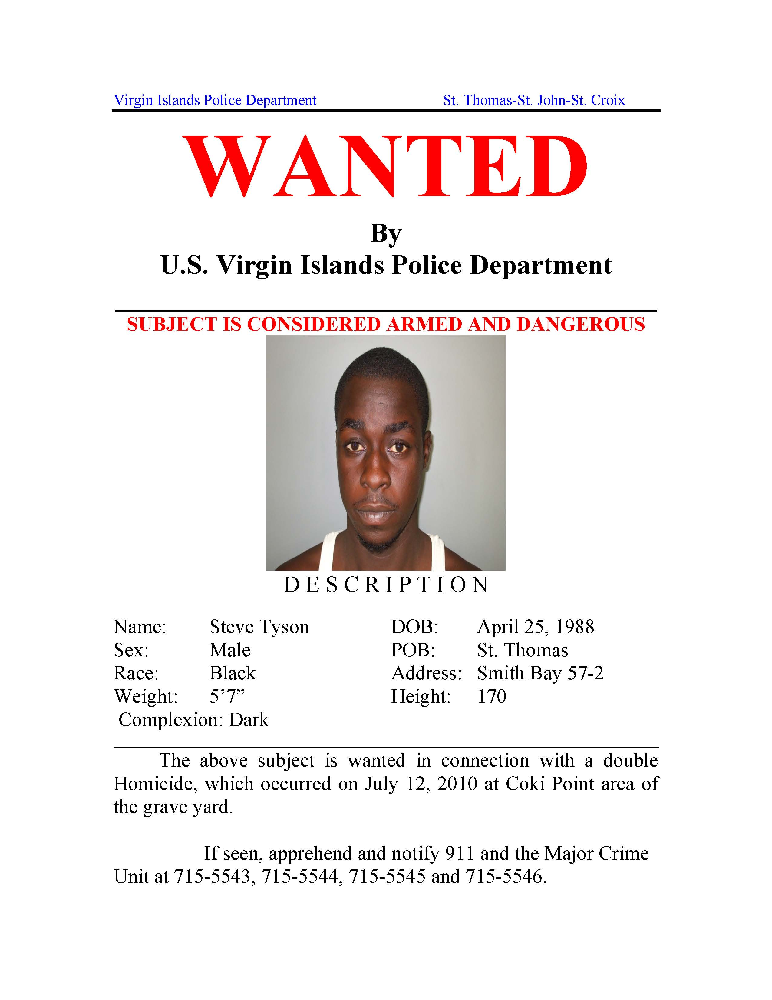 Police Issue Wanted Poster for Double Homicide Suspect | St ...