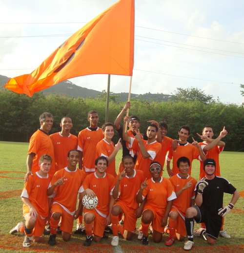 The Country Day School soccer team celebrates its sixth championship in the last seven years.