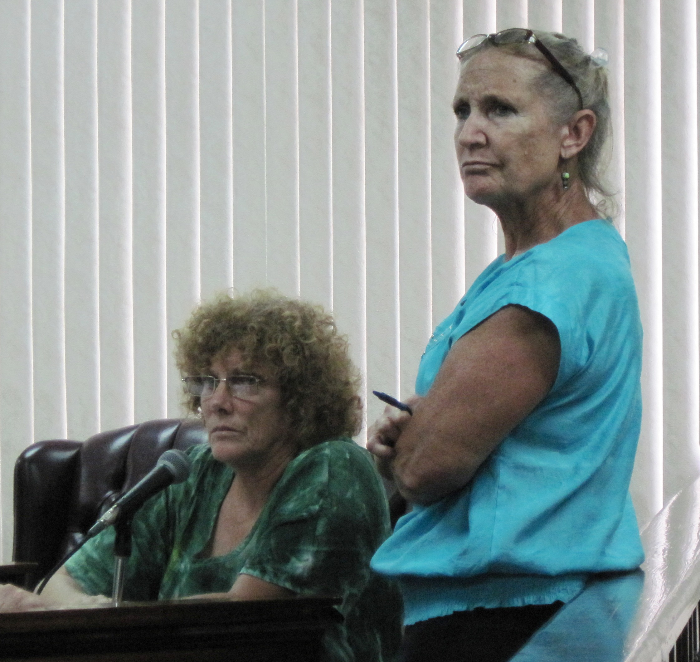 St. John residents Pam Gaffin and Catherine Fahy argued unsuccessfully that residents were not informed about the condo project's permit.