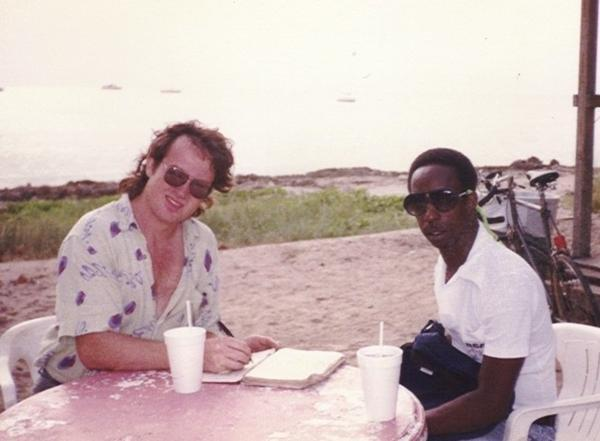 Van Tilbury with friend and bandmate Larry Clemons in the '80s. (Photo courtesy Annie Waddey)