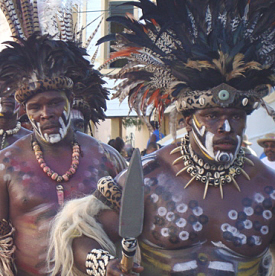 The King Shaka Zulu group entertained adults and thrilled kids in the crowd.