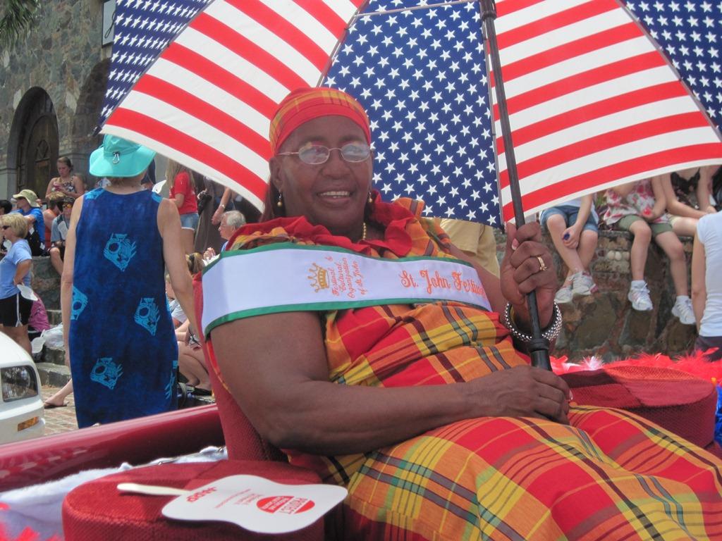 Parade marshal Edna Freeman enjoying the day.