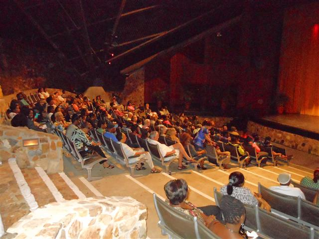 The Reichhold Center crowd eagerly awaiting announcement of the 2011-12 season lineup.