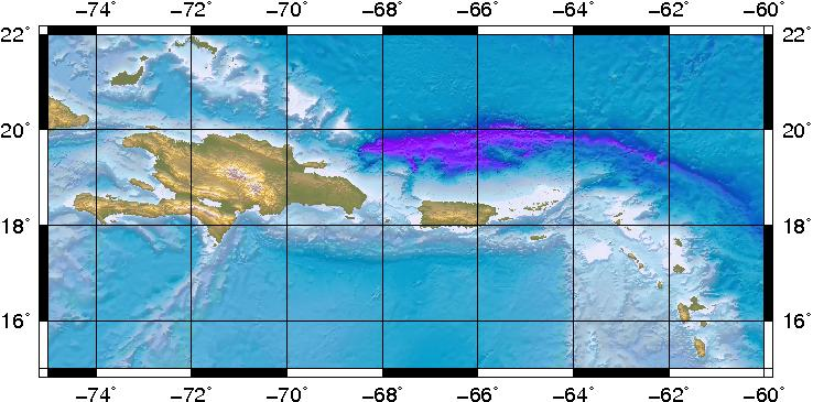 This quake occurred about 12 miles north of Anegada. (Courtesy Puerto Rico Seismic Network)