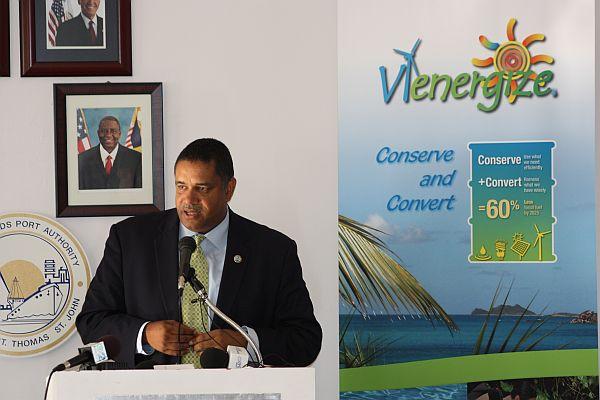 Gov. John deJongh Jr. speaks during Wednesday's press conference.