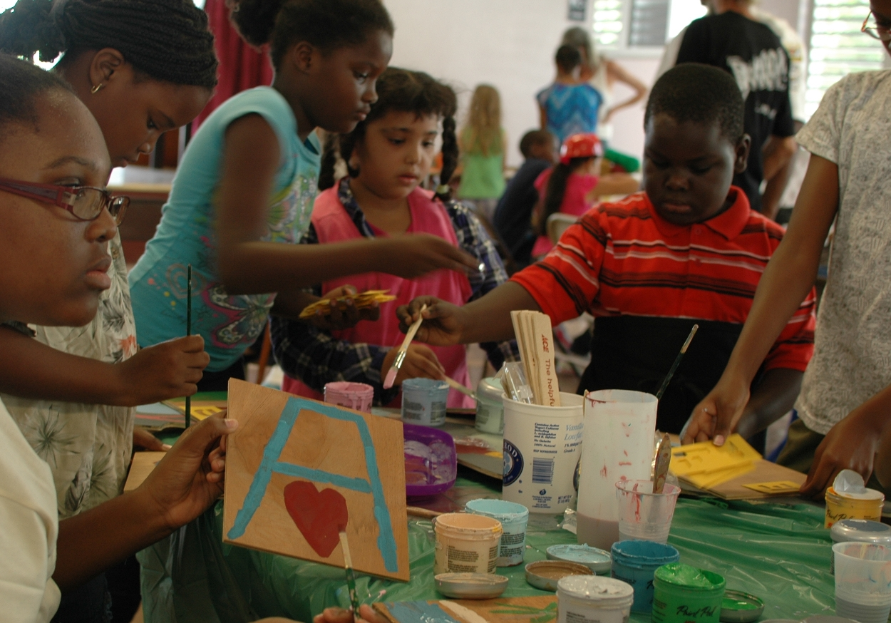 Adult Volunteers Teach Art, Science and Healthy Living Lessons to Kids in ...