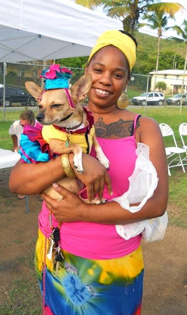 Crystal Allen and dog, Taliah, had a full afternoon at Wagapalooza.