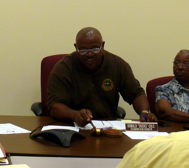 Donald 'Duck' Cole presides over Tuesday's PSC meeting.