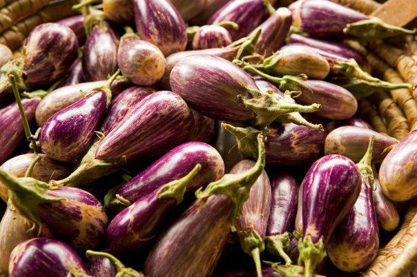 Sustainably farmed local eggplant (Photo courtesy Ridge to Reef Farm).