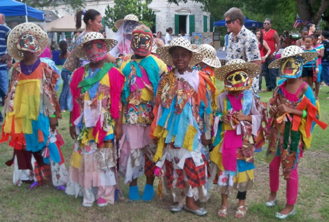 Pearl B Larsen Masqueraders Take Part In Family Fun Day Or Fiesta En El Puerto Rican Culture