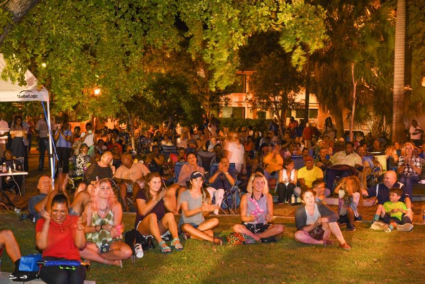 Attendees applaud the Jazz in the Park performers. (Chic Photography)