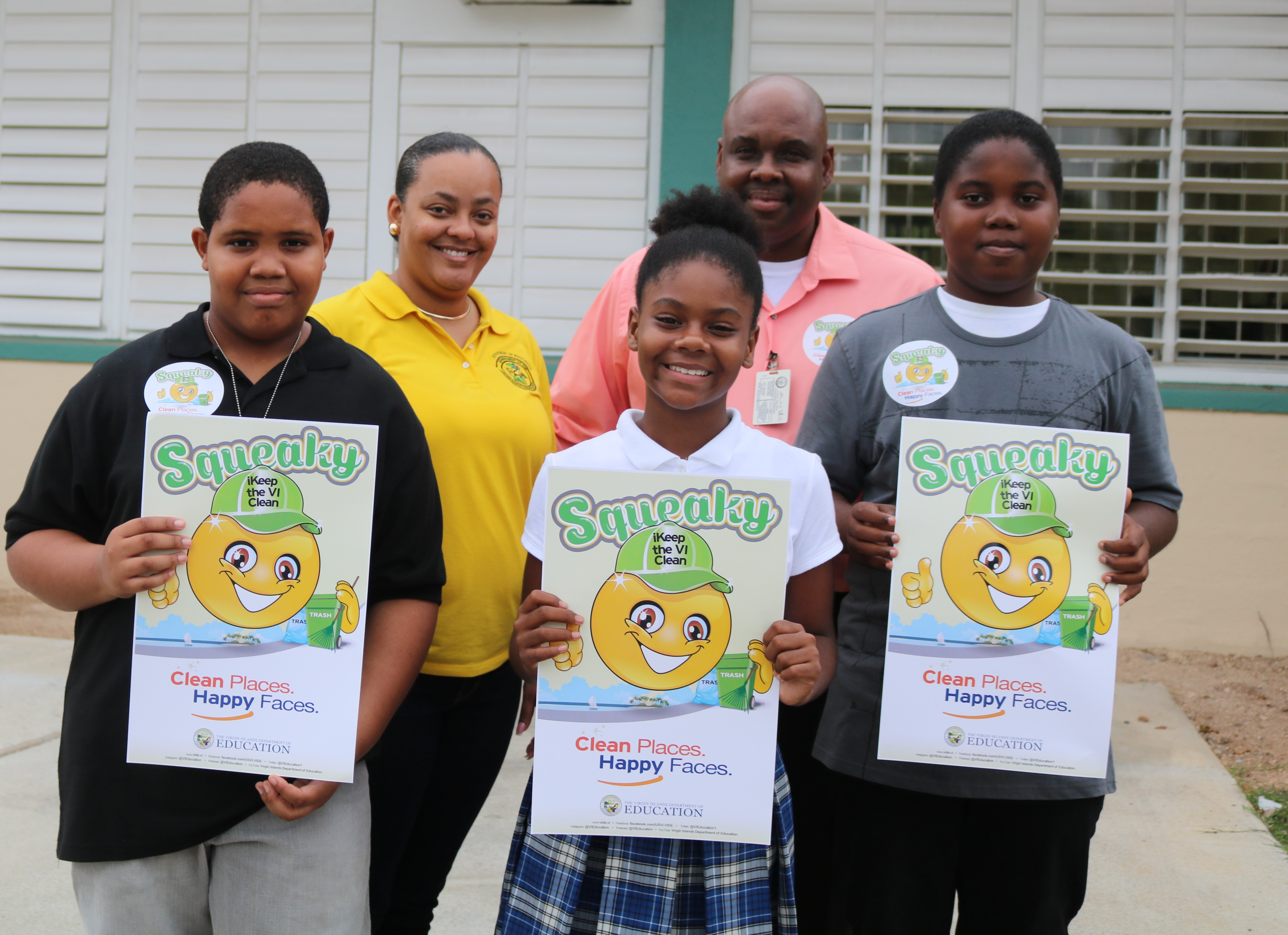 Markoe Elementary School poster contest students feature anti-litter cause.